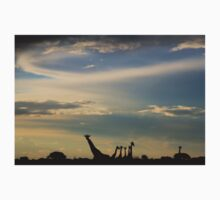 Giraffe Silhouette - Epic Sky and Freedom Kids Clothes