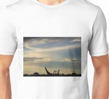 Giraffe Silhouette - Epic Sky and Freedom Unisex T-Shirt