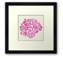 Be You- tiful (pink edition) Framed Print