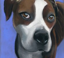 Athena dog portrait by ria hills