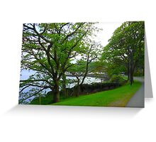 An Evening Walk - Lews Castle Grounds Greeting Card
