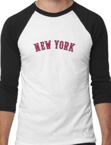New York Versus Boston Rivals Men's Baseball ¾ T-Shirt