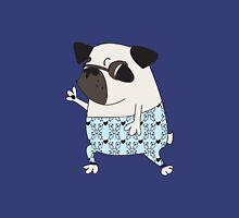 Groovy Pug in Pajama Pants Unisex T-Shirt