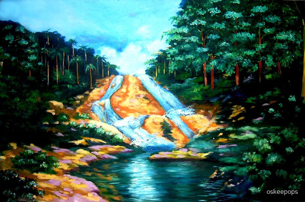 Hangga Falls, Sampaloc Quezon by oskeepops