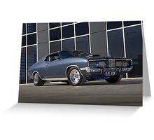 Gunmetal Grey Ford Landau Greeting Card