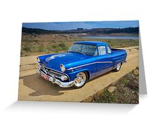 Blue Ford Mainline Greeting Card