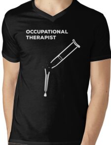 Occupational Therapist, Broken Crutch Mens V-Neck T-Shirt