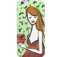 Girl with Rose iPhone Case/Skin