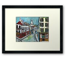 Paris Street(after Utrillo) Framed Print