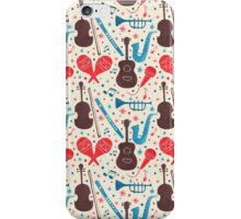 Music Instruments Pattern iPhone Case/Skin