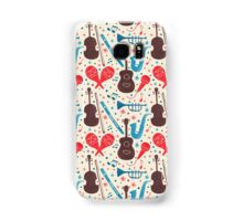 Music Instruments Pattern Samsung Galaxy Case/Skin