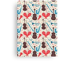 Music Instruments Pattern Canvas Print