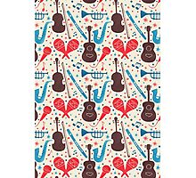 Music Instruments Pattern Photographic Print