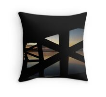 Barwon River Bridge Throw Pillow
