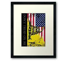 American Gadsden Flag Worn Framed Print