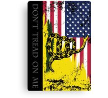 American Gadsden Flag Worn Canvas Print