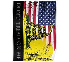 American Gadsden Flag Worn Poster