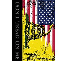 American Gadsden Flag Worn Photographic Print
