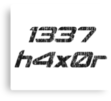 Leet Haxor 1337 Computer Hacker Canvas Print