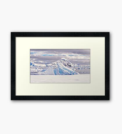 White Land Framed Print