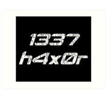 Leet Haxor 1337 Computer Hacker Art Print