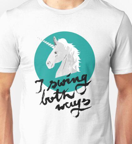 I swing both ways Unisex T-Shirt