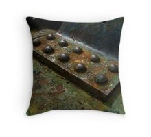 crusty metal Throw Pillow