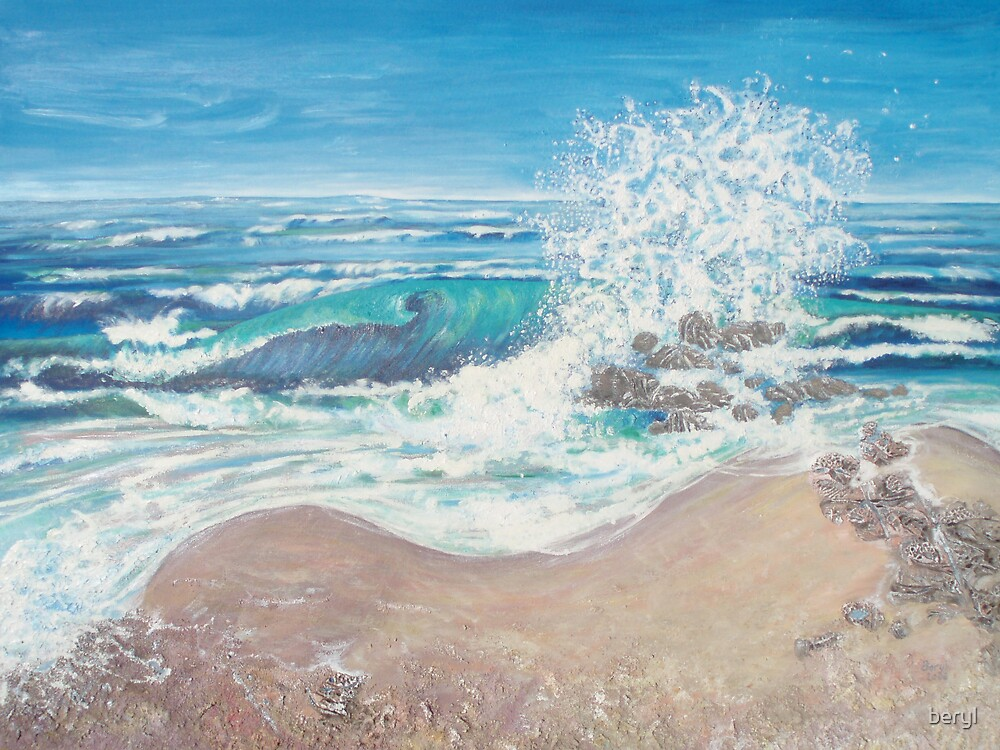 Surf & Rocks by Beryl Withnell