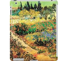 Flowering Garden with Path, Vincent van Gogh iPad Case/Skin