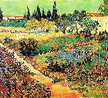 Flowering Garden with Path, Vincent van Gogh by naturematters