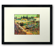 Flowering Garden with Path, Vincent van Gogh Framed Print