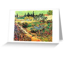 Flowering Garden with Path, Vincent van Gogh Greeting Card