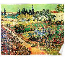 Flowering Garden with Path, Vincent van Gogh Poster