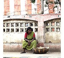 Sitting woman Photographic Print