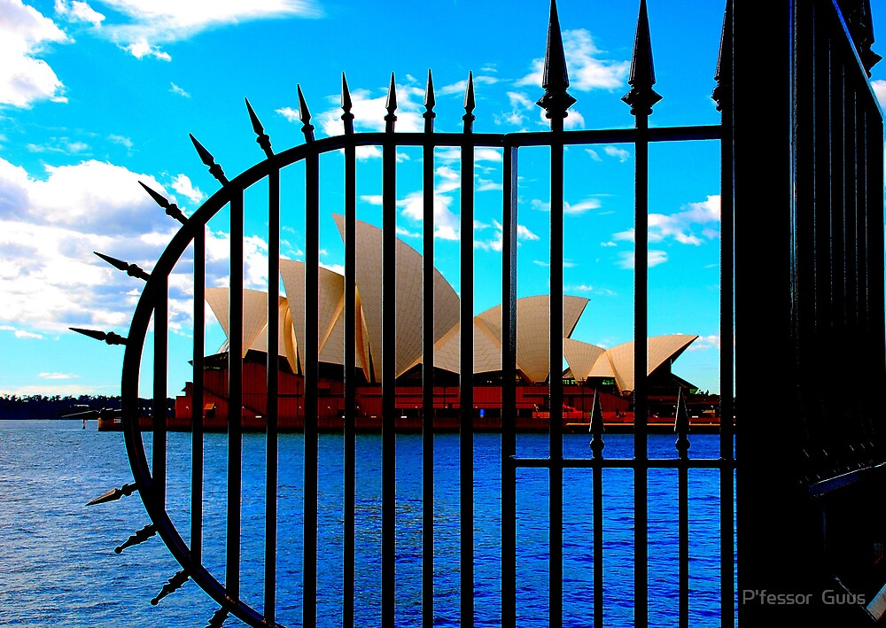 Sydney Opera House Behind Bars by Gus Buckner