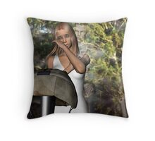 Daddy's Going to Heaven Now Throw Pillow