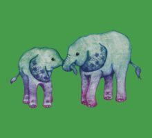 Baby Elephant Love One Piece - Short Sleeve