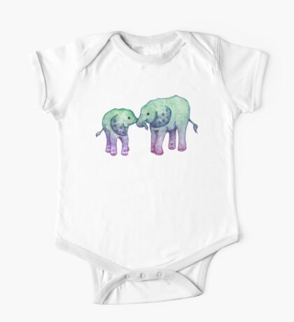 Baby Elephant Love One Piece - Short Sleeve