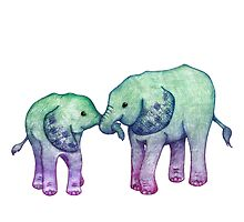 Baby Elephant Love by Perrin Le Feuvre