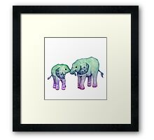 Baby Elephant Love Framed Print