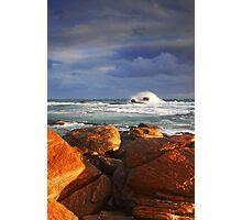 Stormy Sunset Crashing Wave Photographic Print