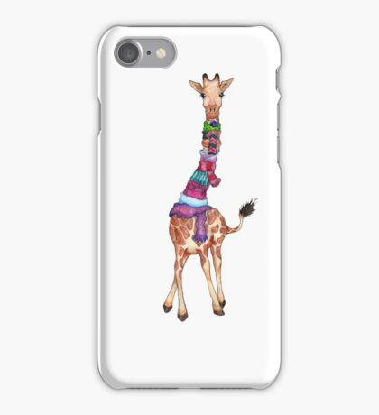Cold Outside - Cute Giraffe Illustration iPhone Case/Skin