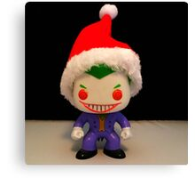 Santa Joker Canvas Print