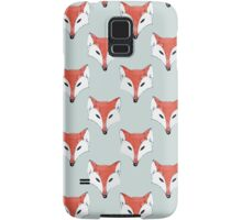 Fox Pattern on Sage  Samsung Galaxy Case/Skin