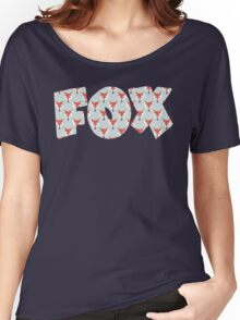 Fox Pattern on Sage  Women's Relaxed Fit T-Shirt