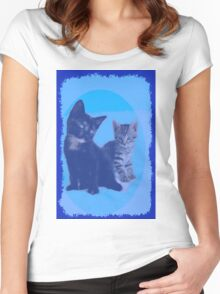 BLUE KITTENS Women's Fitted Scoop T-Shirt