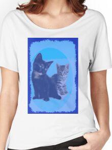 BLUE KITTENS Women's Relaxed Fit T-Shirt