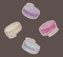 French Macaron Pattern - raspberry, pistachio, lemon & blueberry Kids Clothes