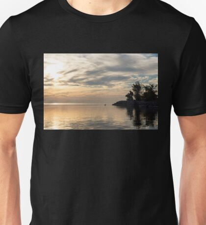 Soft Summer Fun - Solo Paddle Through a Watercolor Cloudscape Unisex T-Shirt