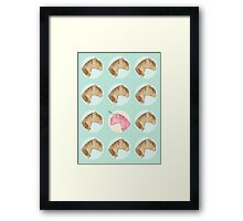 Be Yourself - Unicorn Pattern on Mint Framed Print